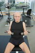 Man in gym working out