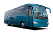 Aqua Blue Tour Bus - 15874302