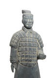 terracotta army figure in china poster