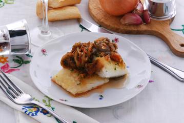 Baccala alla livornese - Secondo di pesce Toscano - Livorno