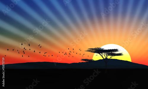 Leinwanddruck Bild Afrika II