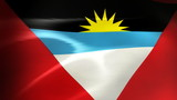 Antigua and Barbuda Flag - HD Loop