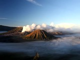 timelapse of sunrise at Mt. Bromo, Indonesia