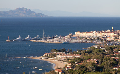 Saint-Tropez, view from surrounding hills