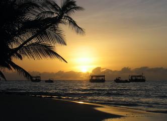 Boats in the sunset, Athuruga, Maldives