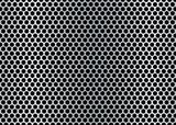 hexagon metal brushed poster