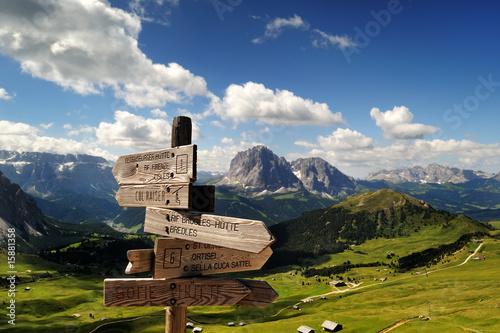 Leinwanddruck Bild Montagna, Dolomiti, Alpi, Italia