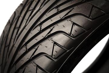 Closeup of brand new tire