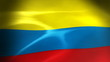 Colombia Flag - HD Loop