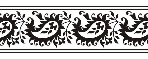 paisley design border