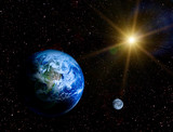 Naklejka Space landscape