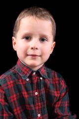 boy on the black background