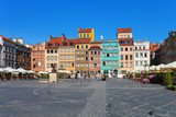 Fototapety Market square in Warsaw, Poland