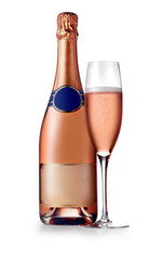 alcohol, sparkling rose wine