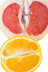 Fresh grapefruit and orange - organic background