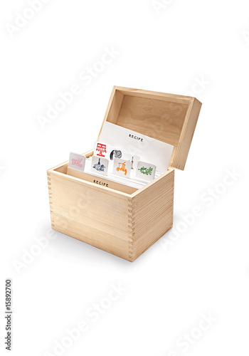 kitchen, recipe box