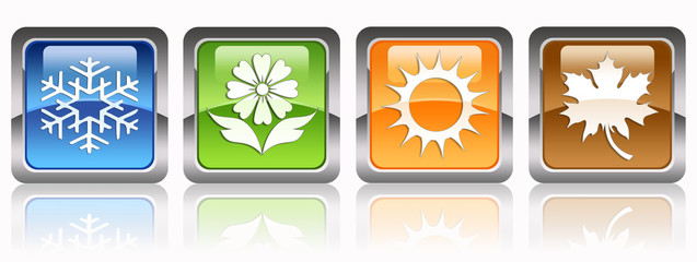Four seasons glossy icons