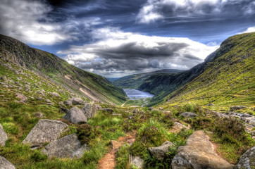 Wide angle view of Glendalough