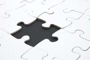 abstract jigsaw puzzle background