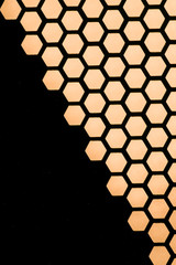 metalic honeycomb background