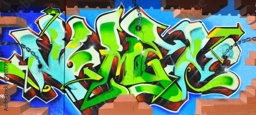 Leinwanddruck Bild graffiti