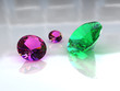 Set of Amethyst and Emerald Gems - High Resolution 3D