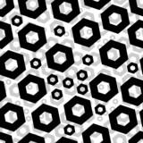 Seamless hexagon pattern poster
