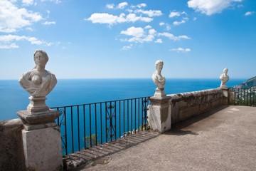 Ancient busts at Villa Cimbrone, Ravello