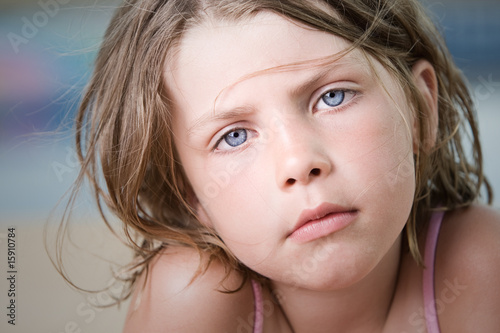 Close Up Shot of a Beautiful Young Child