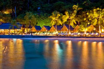 Tropical Resort at Night