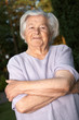 Cheerful elderly woman