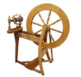 Antique Spinning Wheel with path