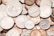 American coins closeup