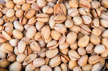 close-up of pistachio nuts