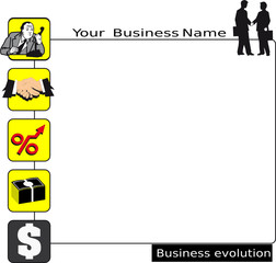 Businesscard and presentation, business evolution