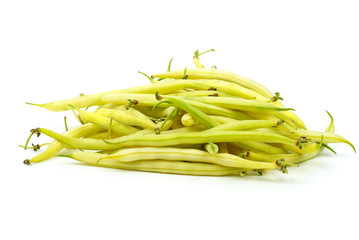 Pile of yellow wax bean pods