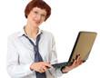 secretary with the laptop