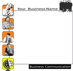 Businesscard and presentation, business communication