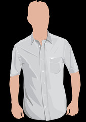 Realistic polo shirt