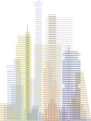 Hochhäuser-Grafik