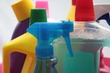Detergent bottles poster