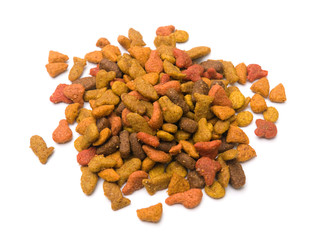 Dry Cat Food Isolated