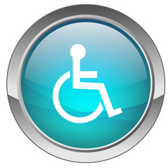 "Bouton ""Handicap"" (bleu) - ""Disabled"" button (blue)"