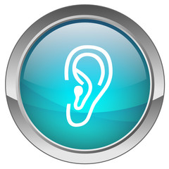 "Bouton ""Ecouter"" (bleu) - ""Listen"" button (blue)"