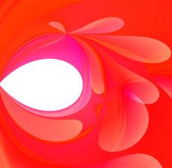 tarjeta roja floral