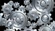 rotating metal gears loop