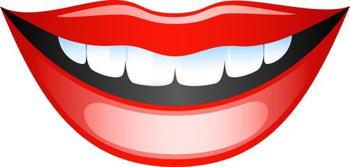 Smiling female lips