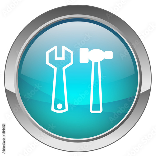 "Bouton ""Outils (bleu) - """"Tools"" button (blue)"