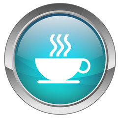 "Bouton ""Pause Café"" (bleu)"