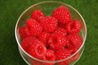 Raspberries in a glass